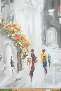 Une peinture de Nati Poulain