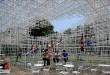 Dans les jardins de Kensington, le pavillon de l'architecte Sou Fujimoto