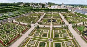 Jardin à la Française - Vue panorarique sur le jardin du château de Villandry